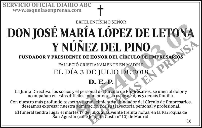 José María López de Letona y Núñez del Pino